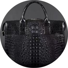 Crocodile Backhorn Leather Bag