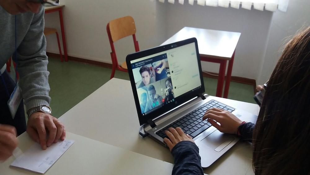 Les élèves du lycée Italien