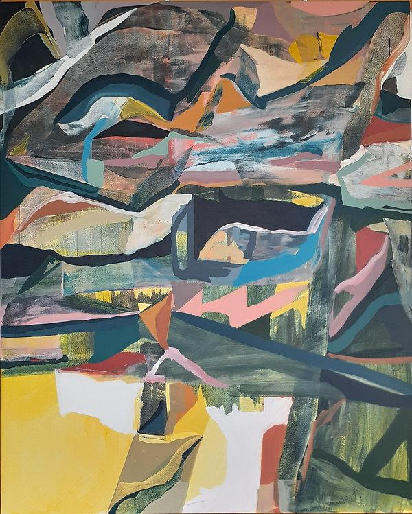 Overflow-Acrylic on Canvas-180x145 cm. 2