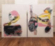 Silencio y fuerza I y II - Acrylic on Canvas
