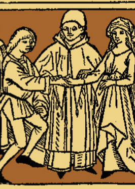 Web Site - Medieval Wedding woodcut- ext