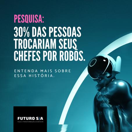 Pesquisa: 30% das pessoas trocariam seus chefes por robôs