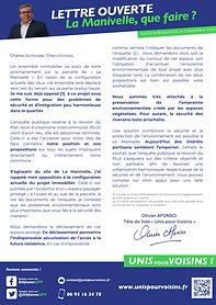 Lettre Ouverte La manivelle Unis pour Voisins municipales voisins le bretonneux