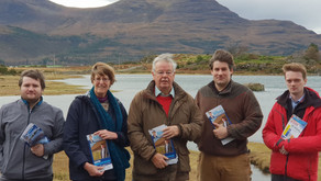 By-election campaigning with Gavin in Wester Ross