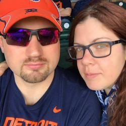 Amanda and Darrell Tigers Game