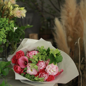 ピアノ発表会のお祝いの花束