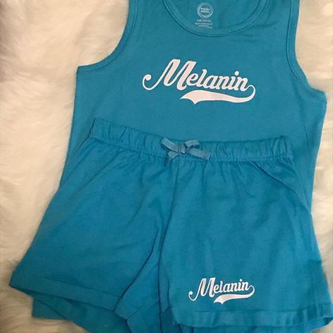 Melanin shorts set for girls!  Don't for