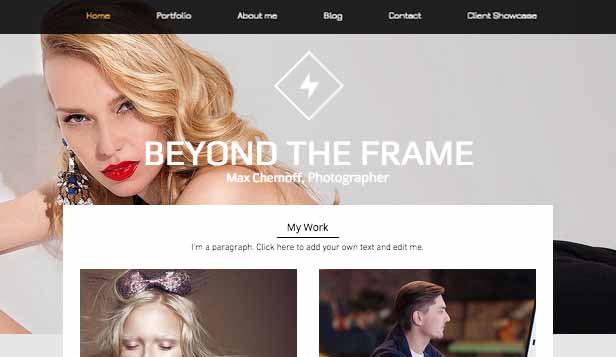Commercial & Editorial website templates – Fashion Photo Studio