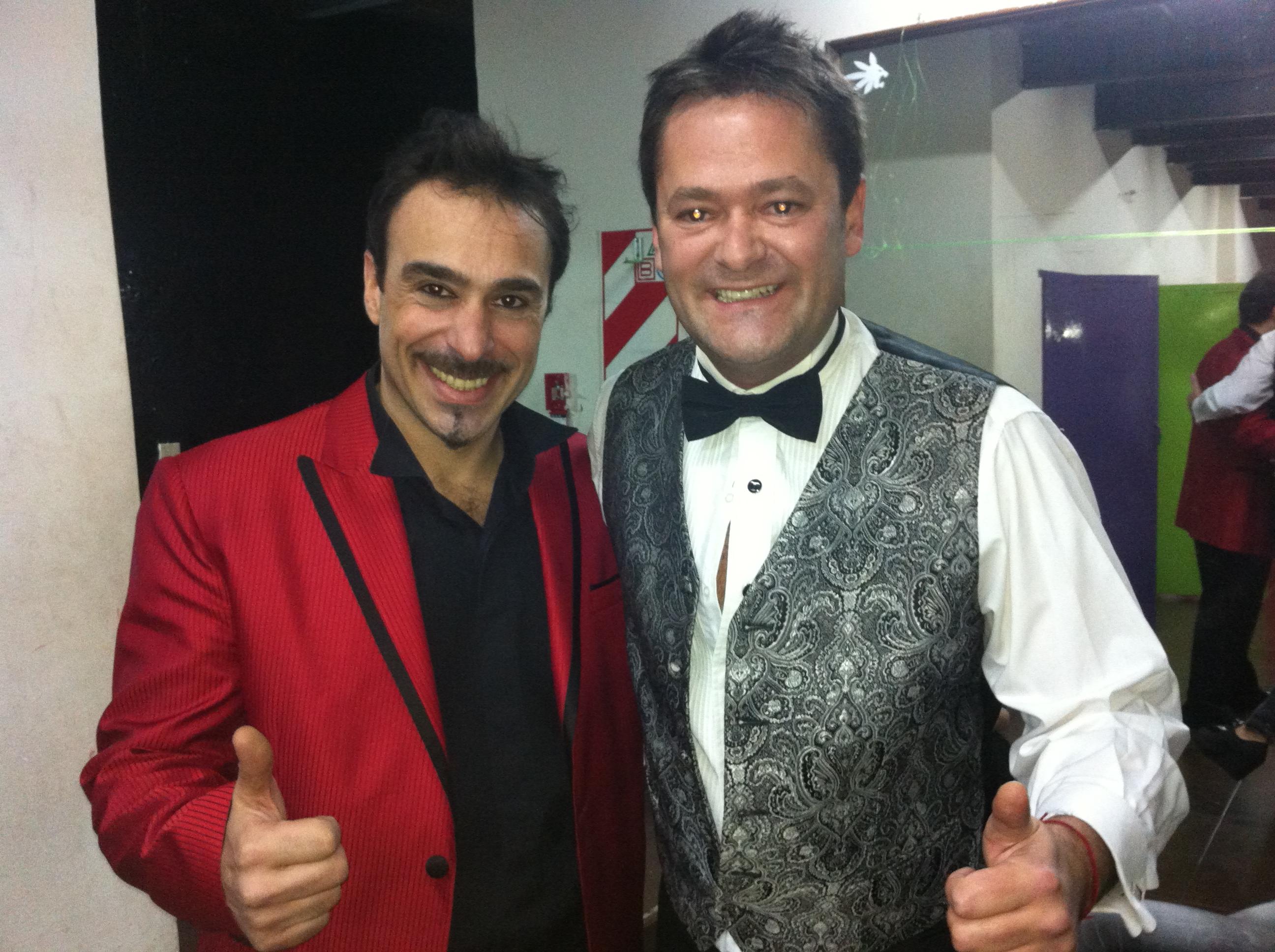 Con Roberto Peña