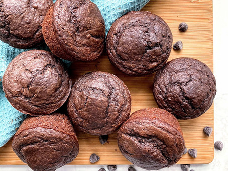Whole Wheat Chocolate Chia Seed Muffins