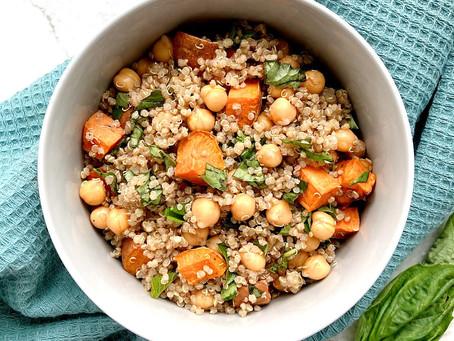 Sweet Potato Basil Quinoa