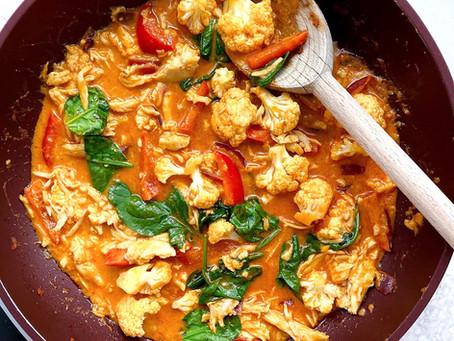 Cauliflower Turkey Curry
