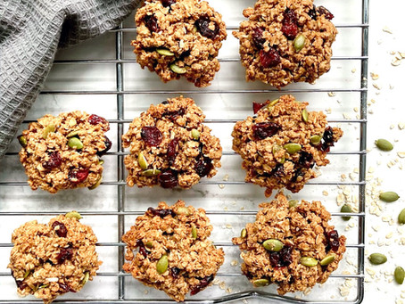 Oatmeal Cranberry Pumpkin Seed Cookies