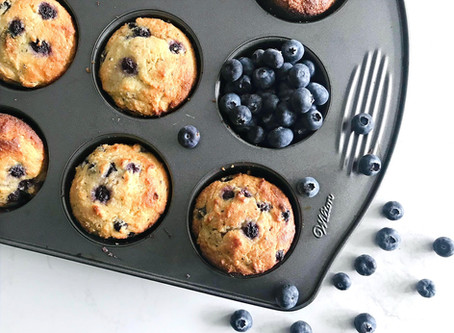 Almond Flour Lemon Blueberry Chia Seed Muffins