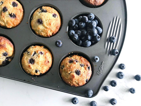 Almond Flour Lemon Blueberry Chia Seed Muffins