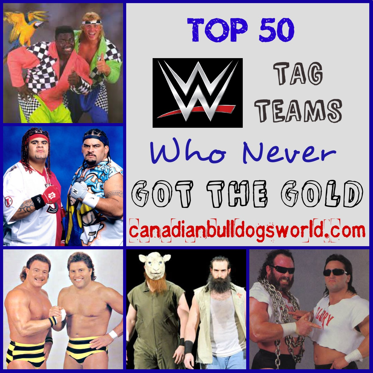 Top 50 Tag Teams Who Never Got The Gold