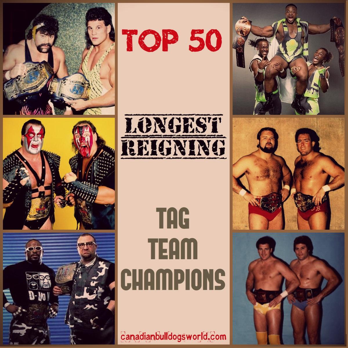 Top 50 Longest Reigning Tag Team Champio