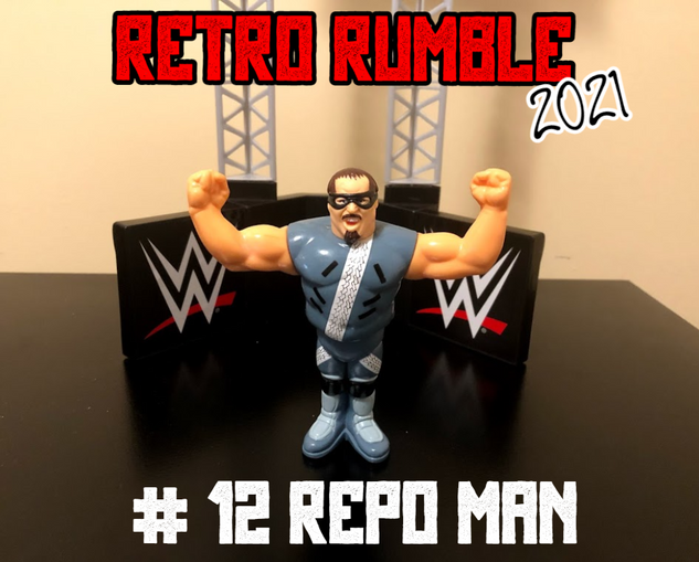 Repo Man is out next, and you just know that he's looking to repossess something in the ring. What's his is his... and what's yours is also his!