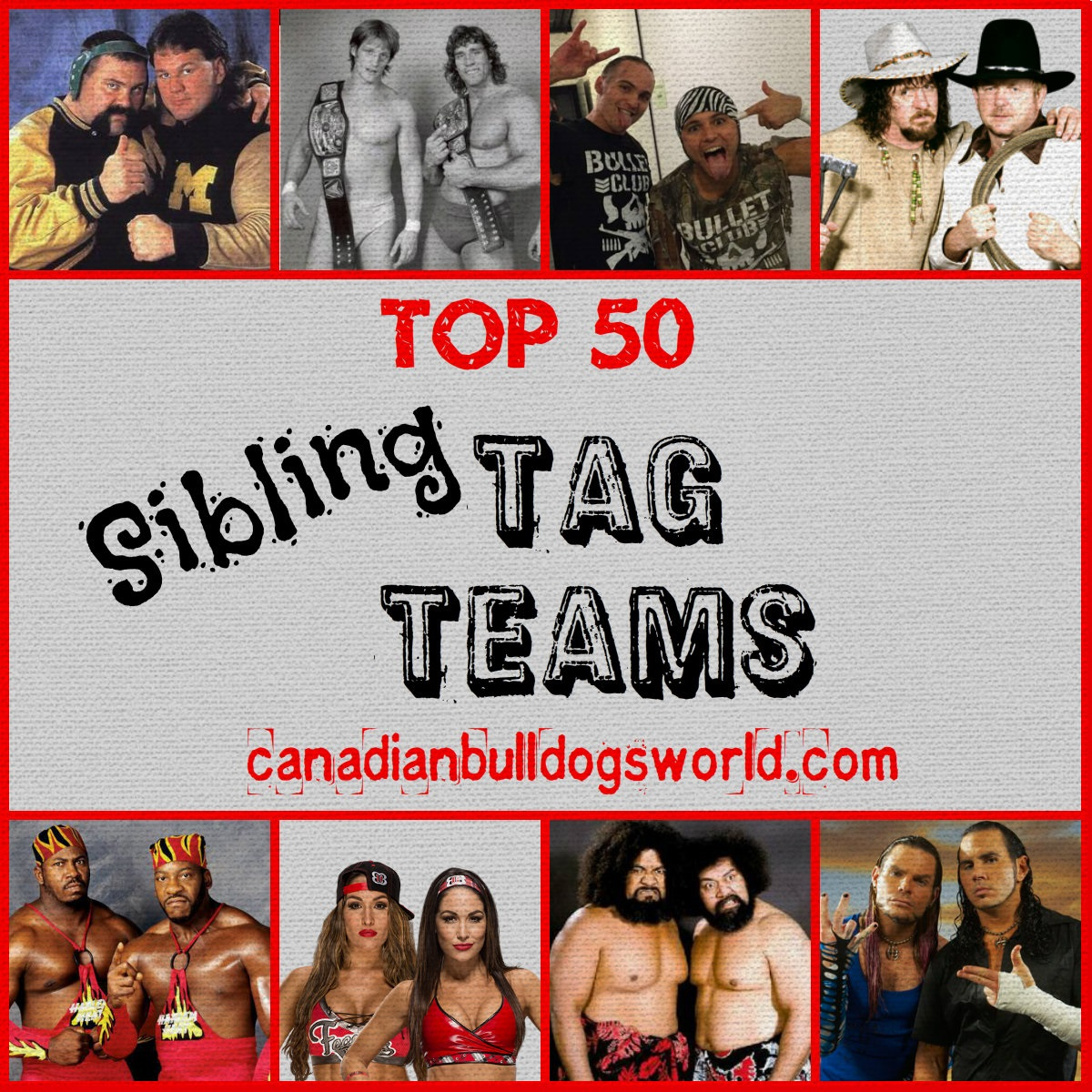 Top 50 Sibling Tag Teams