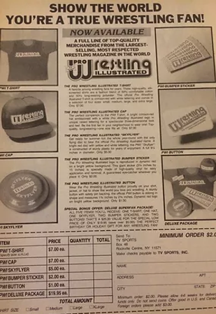 Five Wrestling Magazine Ads From 1988