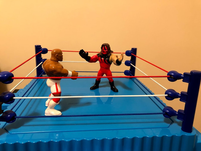Entries number one and two are in the ring, with a new competitor entering every... well, few panels or so. We can't exactly time this in terms of minutes.  The Devil's Favorite Demon and the former Million Dollar Champion are staring each other down.