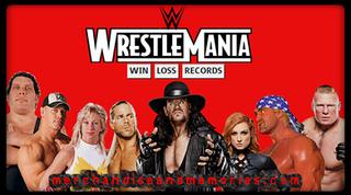 WrestleMania Win Loss Records