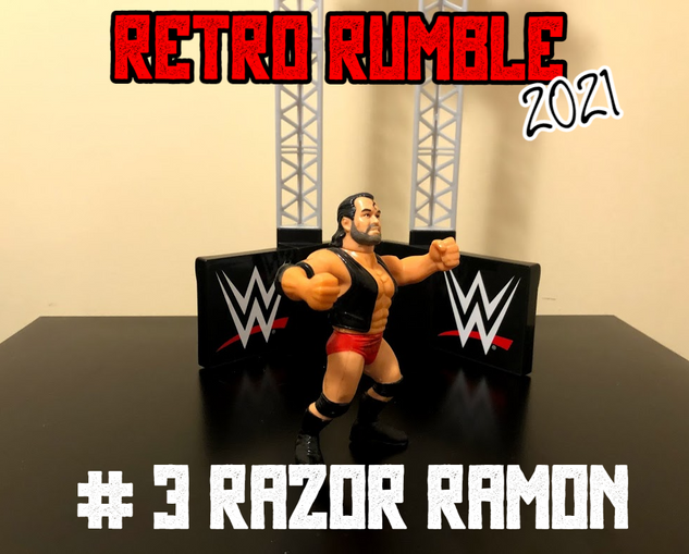 Razor Ramon!  The Bad Guy is here and he could make life miserable for everyone in the ring in this year's Retro Rumble.  Yes, that includes Virgil.
