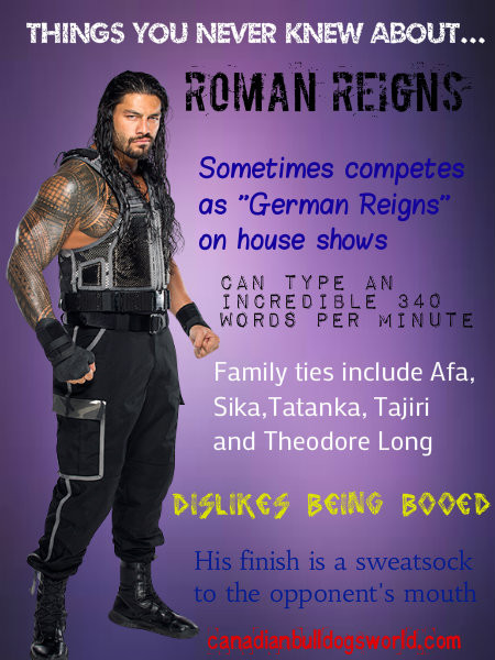 Things You Never Knew About Roman Reigns