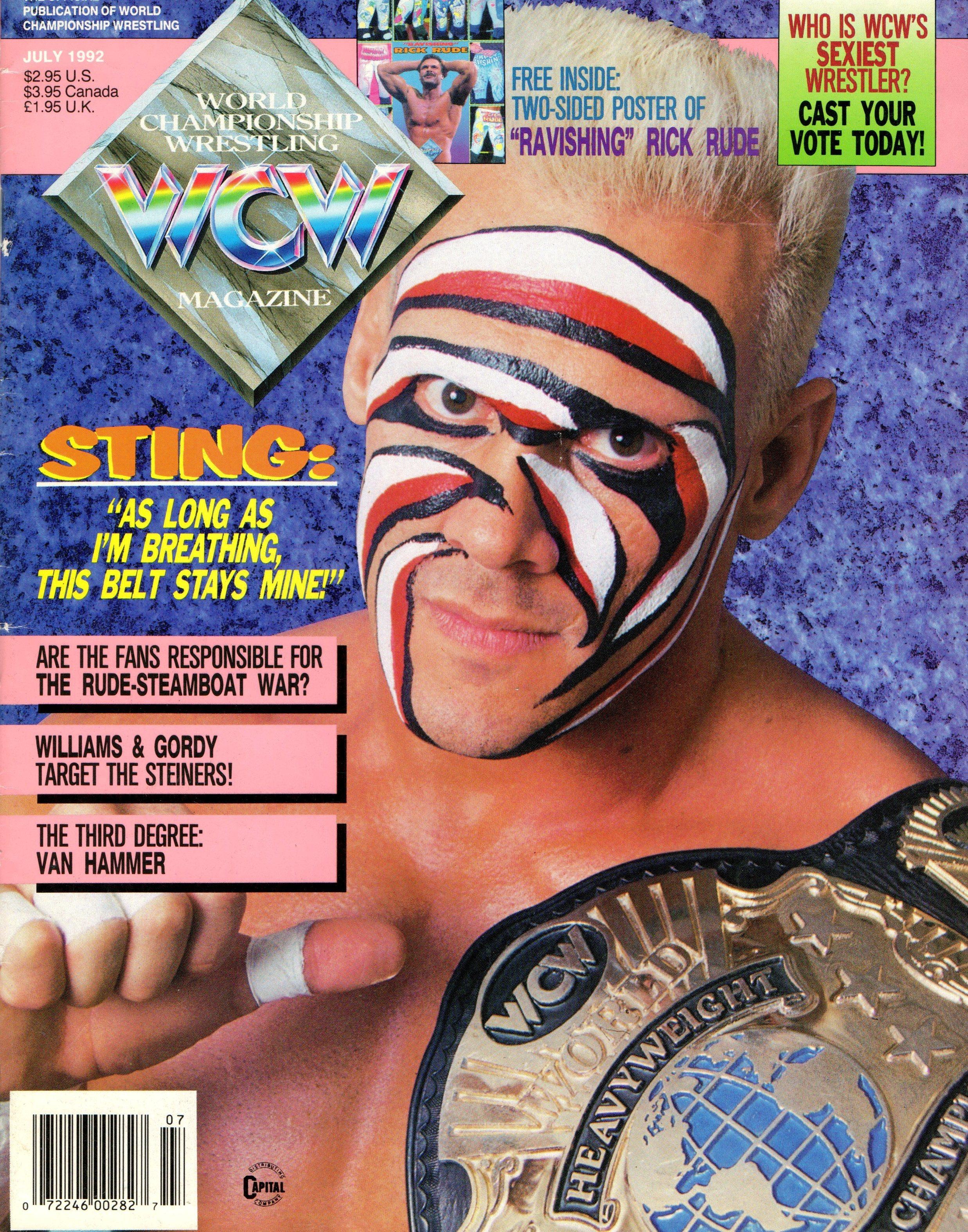 WCW Magazine July 1992