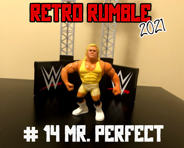 "Mr. Perfect is out next, and he's promising the nonexistent crowd watching this match that he will become... ""the Perfect Retro Rumble participant."""