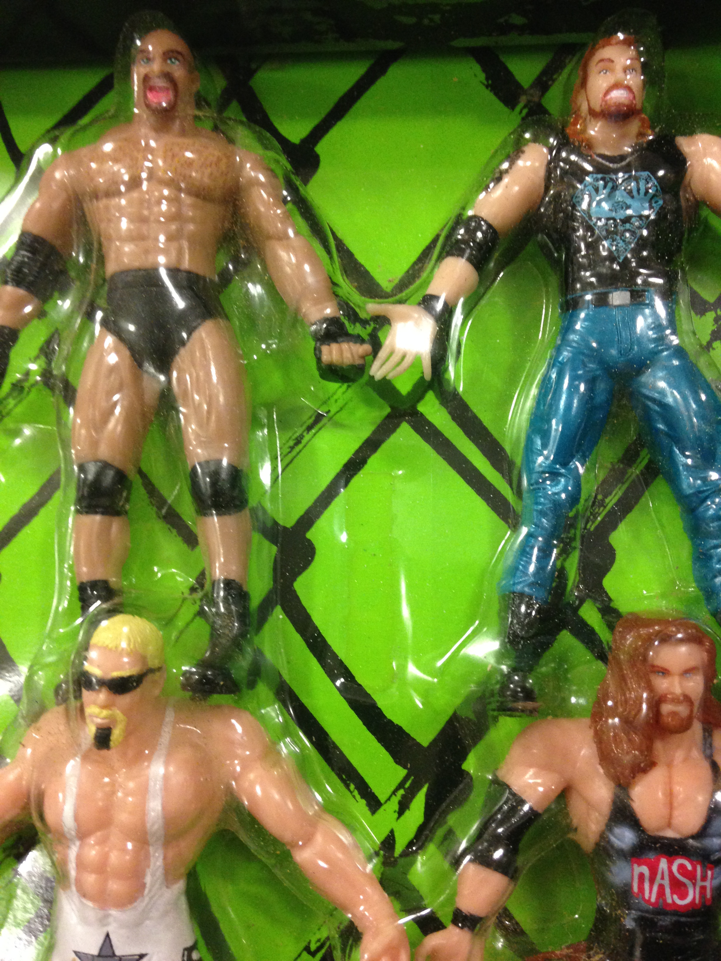 WCW Bend 'n' Flex Figures