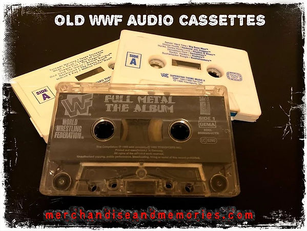 Old WWF Audio Cassettes