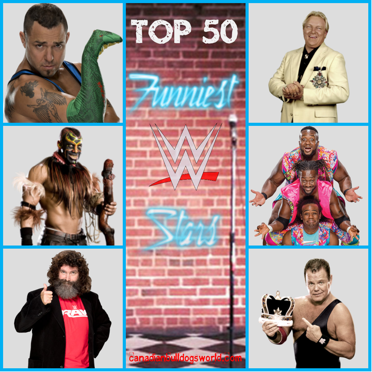 Top 50 Funniest WWE Stars