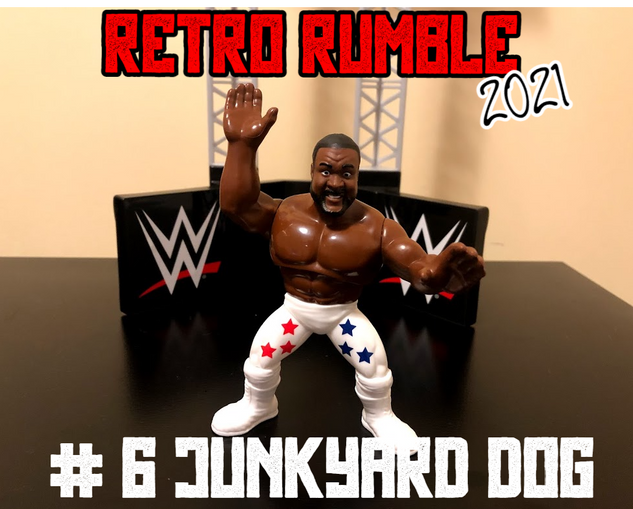 ...The Junkyard Dog! JYD looking quite svelte here for this match (or like a repaint of the John Cena figure, who knows?). Let's see what The Dog can do here!