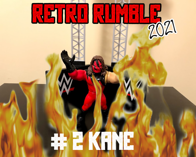 Speaking of The Undertaker... by fire and brimstone, that's gotta be Kane!  And while Kane's CGI flames look kind of cheesy... let's be honest, they're just as realistic as half the stuff WWE has given us in the last year.
