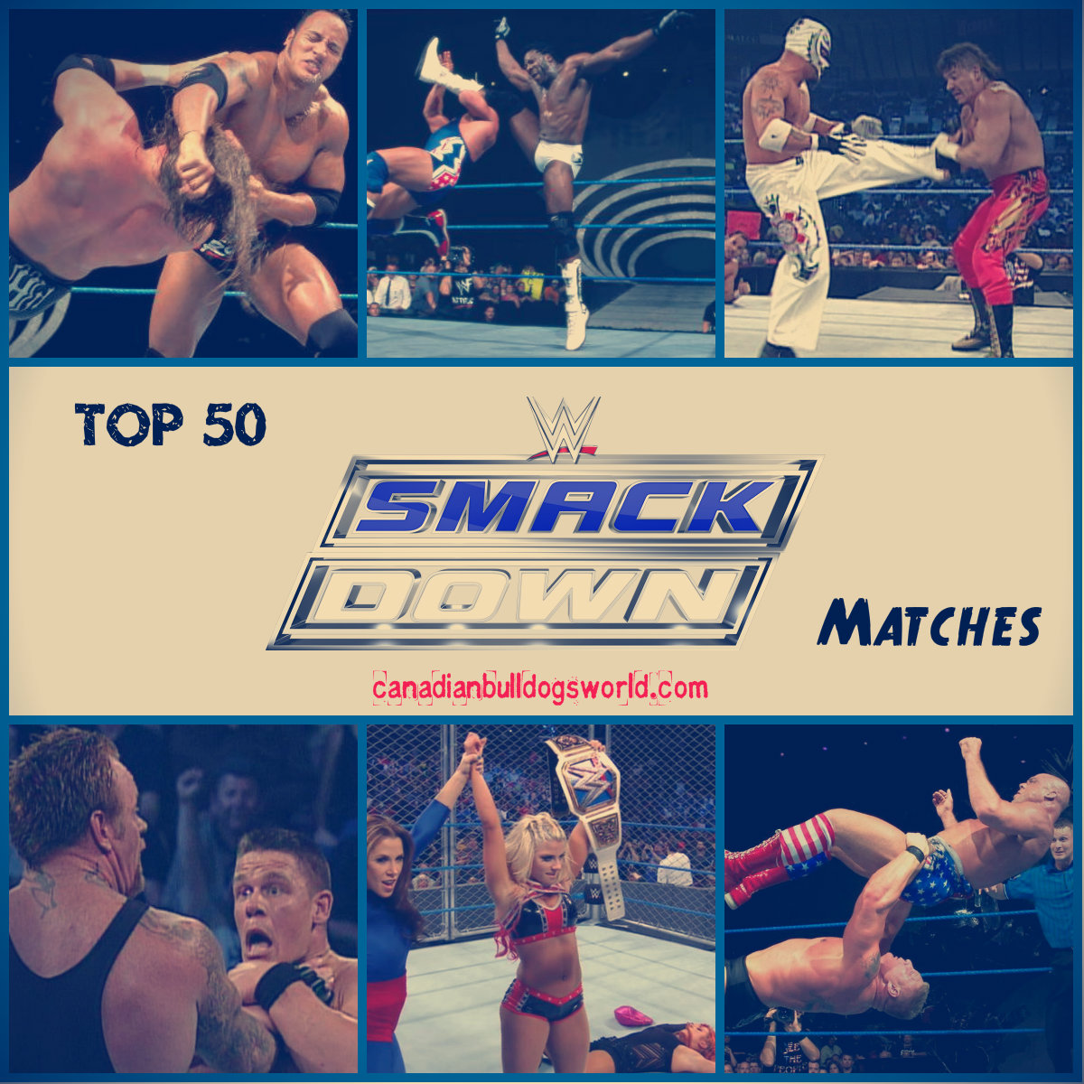 Top 50 SmackDown Matches