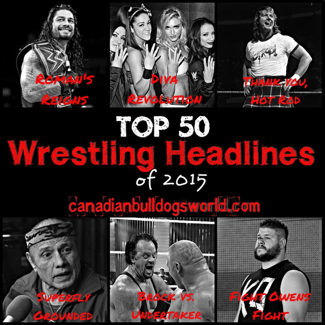 Top 50 Wrestling Headlines of 2015