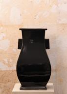 Misure h 33 x 9 Vaso di gusto orientale  Ceramica smaltata handmade