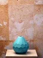 Misure Ø 13 h 15 Vasetto turchese piccolo  Pasta di turchese
