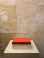 Misure h 5 x l 13 Scatola arancio  Lacca e pietra