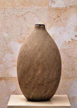 Misure   Ø 18 x h 28 Vaso  Cotto Elaborato
