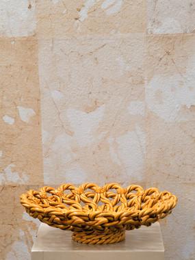 7 Misure  Ø 28 x h 8    Barbotine cesto     Ceramica