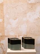 Misure l 13 x h 9     Coppia Portacandele Rosenthal '900    Ceramica