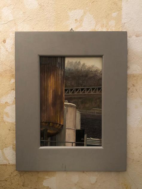 Misure h 44 x l 35  Quadro pittore contemporaneo  Acrilico su tela