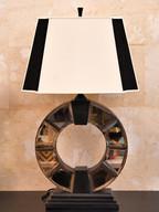 Misure cappello 48 x 30 h       lampada 84  h Lampada vetro antico  Vetro specchiato antico e tela