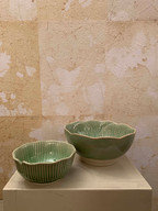 Misure   Ø 10,5 x h 5     Ø 14,5 x h 6    Ciotola vegetale - Ceramica
