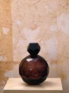Misure Ø 13 h 18  Bottiglia color ametista Cristallo