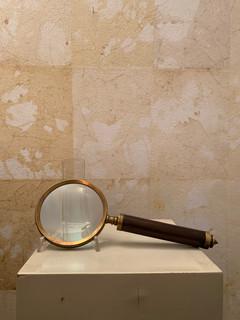 Misure Ø 10 cm x l 25 cmLente d'ingradimento Cuoio e ottone 40 Euro
