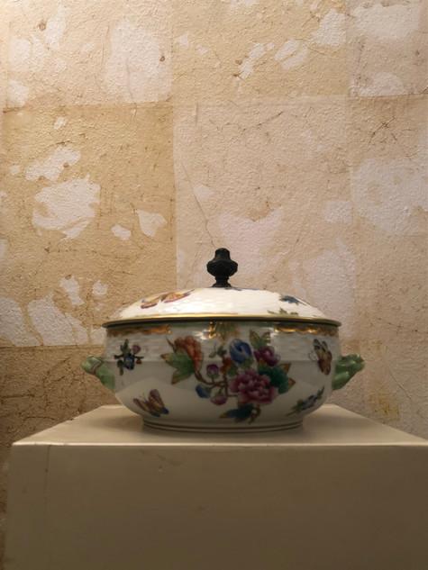 Misure l 15 x  Ø 18 Zuppiera '900 Manifattura Herend Hungary Porcellana