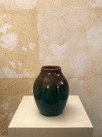 Misure h 17  x Ø 37 Vasetto epoca Ceramica Smaltata Hand Made